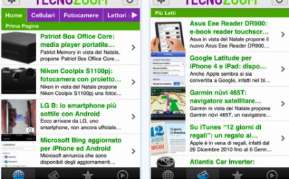 Tecnozoom sbarca su iPhone: ecco l'applicazione ufficiale