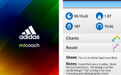 Android App: Adidas MiCoach ad Aprile