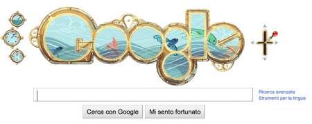 "Google Doodle: omaggio a Jules Verne con il logo ""Nautilus"""