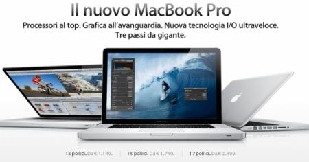 MacBook Pro: prezzi e caratteristiche tecniche dei nuovi modelli