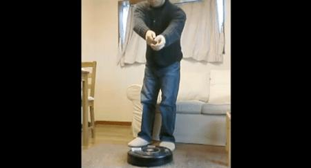 Robot Aspirapolvere comandato via Kinect