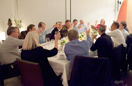 Steve Jobs alla cena con Obama, ecco la foto