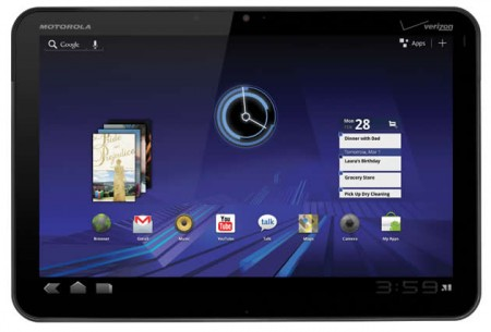 tablet android Motorola XOOM touch