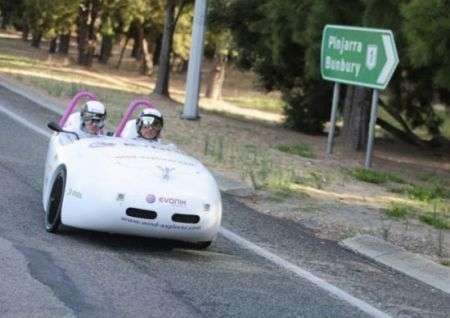 Energia Eolica spinge un'auto per 4800km in Australia