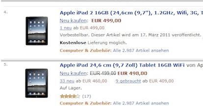 iPad 2: scheda tecnica, prezzo e uscita appaiono su Amazon!