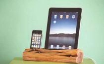 Docking station in legno di cedro per iPad e iPhone/iPod