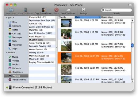 foto schermata phoneview