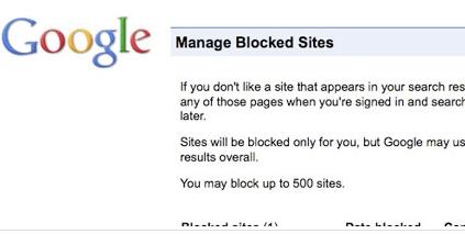 Google Blacklist: la lista nera dei siti indesiderati, a portata d'utente