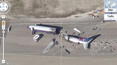 Google Maps mostra disastro aereo? No, set cinematografico