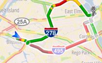 Google Maps Navigation calcola il percorso aggirando il traffico