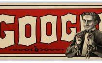 Harry Houdini festeggiato da Google con un Doodle