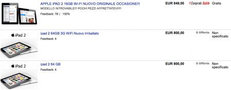 iPad 2 su eBay fioccano i prezzi pazzi
