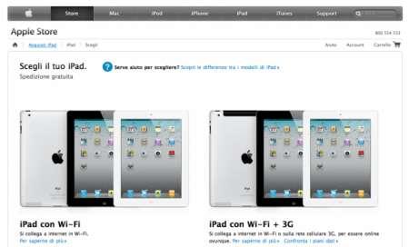 iPad 2 in Italia: acquistabile oggi online e negli Store