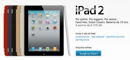 iPad 2: prezzi italiani ufficiali, da Apple!