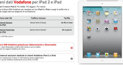 iPad 2 Vodafone: i piani per navigare sul web, prezzi e dettagli