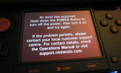 Nintendo 3DS: primi problemi con il Black Screen of Death