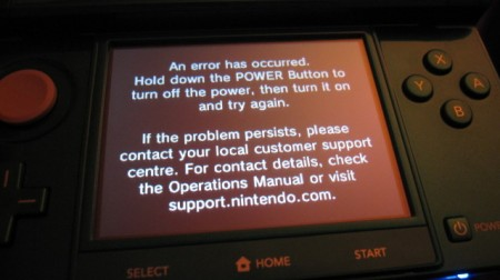 Nintendo 3DS: primi problemi con il Black Screen of Death
