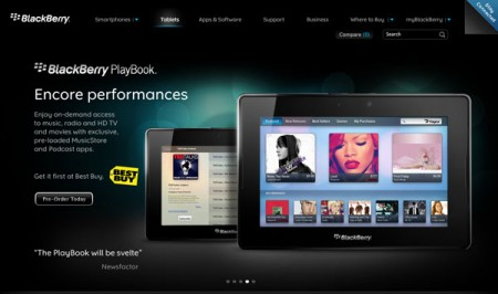 Tablet BlackBerry PlayBook: uscita fissata il 19 aprile, i prezzi