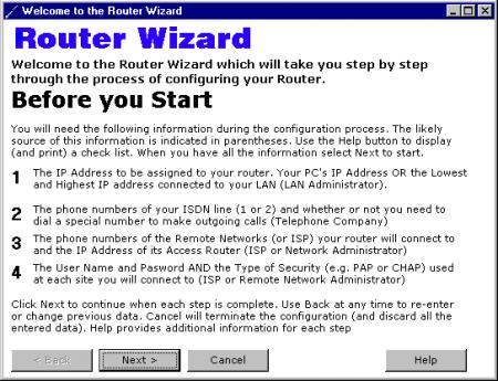 router wizard installazione