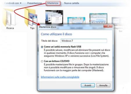 windows 7 masterizzare