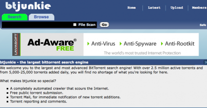 Btjunkie.org bloccato dalle autorità italiane