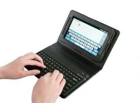 Samsung Galaxy Tab: custodia con tastiera Bluetooth