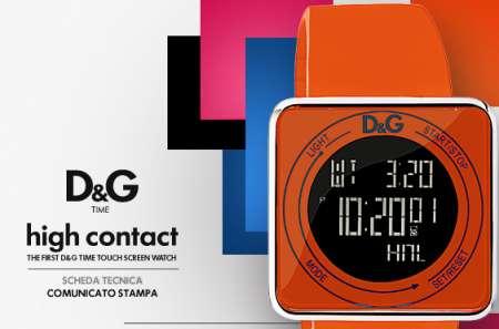 Orologio D&G High Contact: touchscreen e stile modaiolo