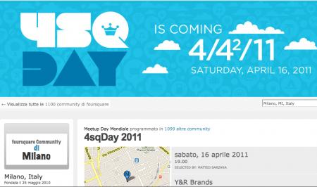 Foursquare in Italia: 16 aprile meetup a Milano e Bologna