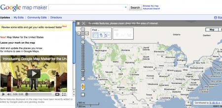 Google Maps Maker: la mappa degli USA interamente aperta agli utenti