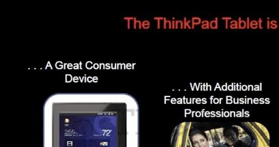 Tablet Lenovo Thinkpad con Android Honeycomb