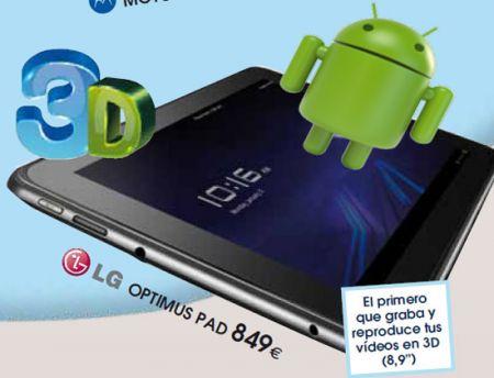 lg optimus pad android tablet