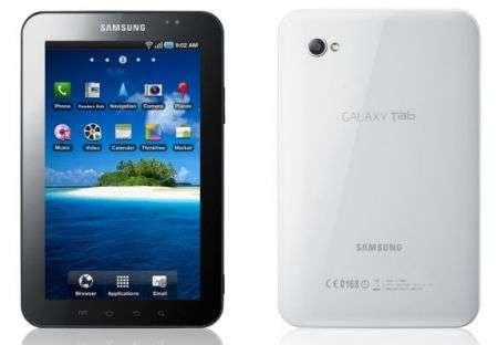 Samsung Galaxy Tab solo Wi-Fi in Italia, scheda tecnica