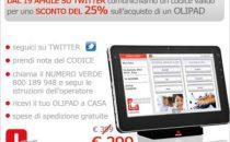 Tablet Olivetti Olipad: sconto di 100 euro solo oggi, su Twitter!