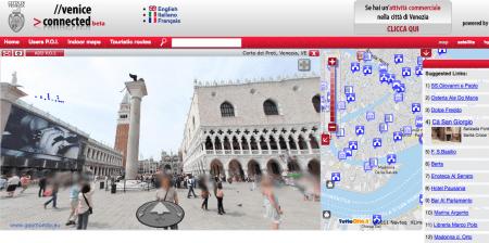 """Tour virtuale di Venezia stile """"Street View"""" tra monumenti e informazioni"""