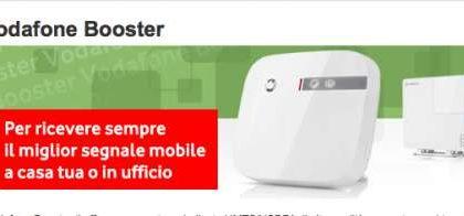 Vodafone Booster: prezzo della femtocella 3G per casa o ufficio
