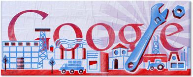 """Google Doodle: 1° maggio """"Festa del Lavoro"""" guadagna il logo"""