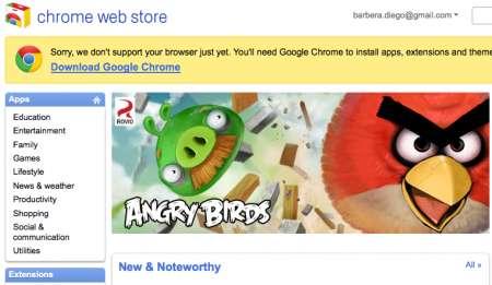 Google Chrome Web Store: tante app da scaricare, c'è pure Angry Birds!