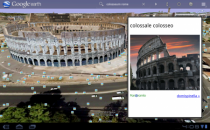 Google Earth con mappe 3D per tablet Android Honeycomb