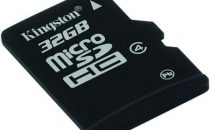 MicroSDHC Kingston da 32GB: un capiente archivio in un unghia!