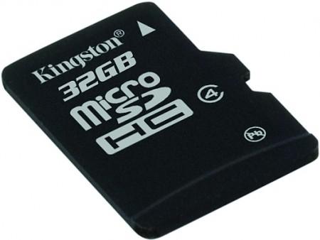 MicroSDHC Kingston da 32GB: un capiente archivio in un unghia!