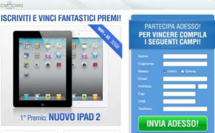 Tecnocino ti regala un iPad 2, partecipiamo tutti al primo concorso!