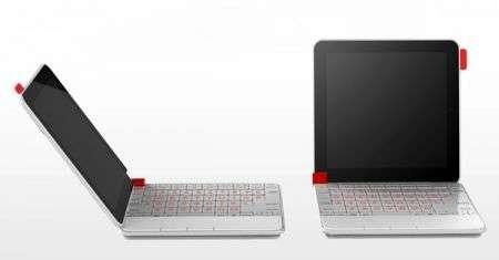 Il concept di notebook Fujitsu con originale apertura su ambo i lati