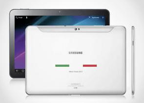 Lo specialissimo Samsung Galaxy Tab 10.1 tricolore in vendita su eBay