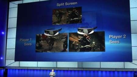 Con lo schermo Sony 3D Playstation ogni giocatore avrà diversa visuale