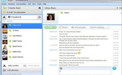 """La chat di Facebook si integra in Skype con diversi comandi """"sociali"""""""
