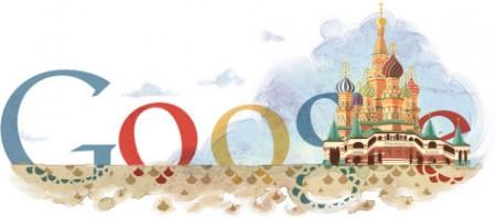 Google Doodle dedicato all'anniversario della Cattedrale San Basilio