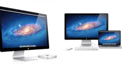 Apple Thunderbolt Display per alta definizione e trasferimenti rapidi