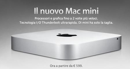 Il nuovo Apple Mac Mini elimina il drive ottico e accoglie Thunderbolt