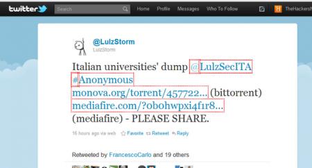 Attacco hacker alle Università italiane a opera di LulzStorm