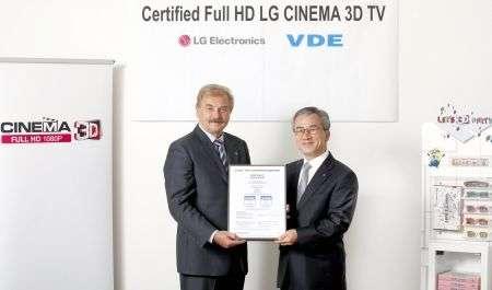 I TV CINEMA 3D di LG ora certificati Full HD, è ufficiale